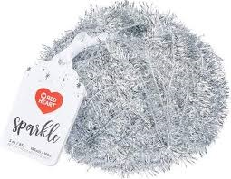 Red Heart Sparkle 8941 Silver Polyester Craft Yarn
