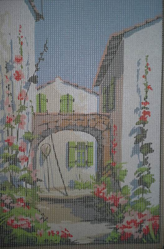 SEG de Paris 928.96 Villa Garden Needlepoint Canvas