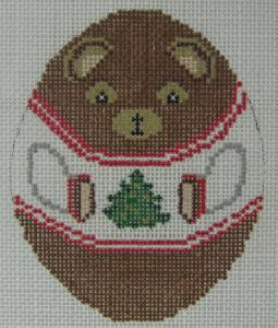Designing Women 258 Russian Doll Teddy Bear Needlepoint Canvas