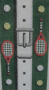 Golfing Theme With Belt Handpainted Needlepoint Canvas