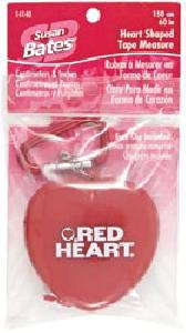 Susan Bates Heart Shaped Tape Measure #14140
