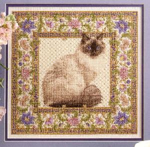 Leisure Arts 3184 Tapestry Cat