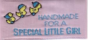 Unique Label 4508 Handmade for a Special Little Girl