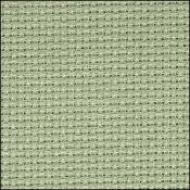 "Aida 14 Count Smokey Green 19"" x 21""/50 cm x 53 cm from Zweigart. 3706-762Q"