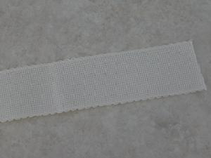 "Ribband 16 Count Ivory Width 1.75""/4.5cm Length-1 meter 7107"